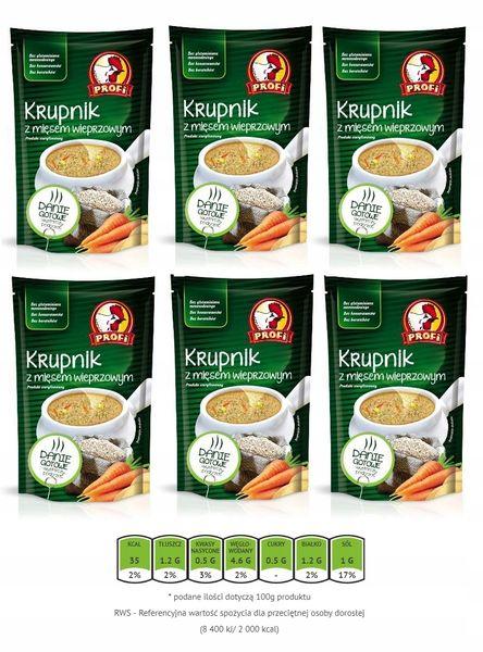 Zupa krupnik z mięsem wieprzowym Profi 450 g x 6 609527 na Arena.pl