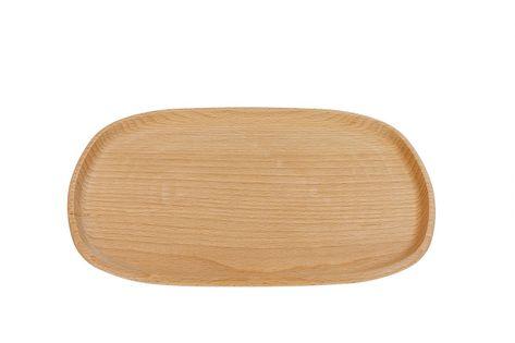 Duży talerz z drewna