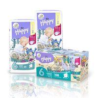 Pieluszki dla dzieci Bella Happy New Flexi Fit Junior Extra BOX 108szt