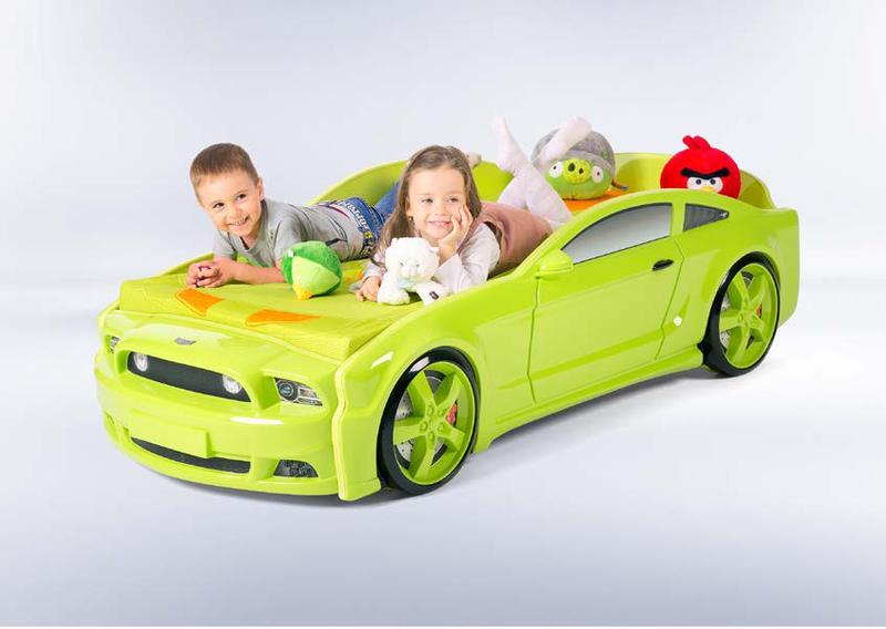 Łóżko AUTO samochód - Mebelev MG 3D basic CZERWONE zdjęcie 1