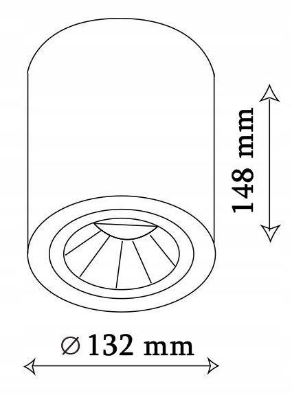 OPRAWA NATYNKOWA SUFITOWA E27 TUBA LAMPA PLAFON zdjęcie 3
