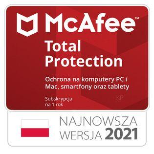 McAfee Total Protection 3 stanowiska / 1rok