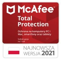 McAfee Total Protection 3 stanowiska / 1rok