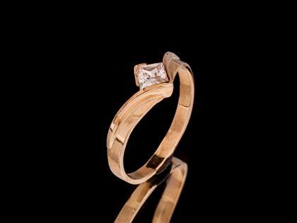 P504 Złoty pierścionek z cyrkonią 333