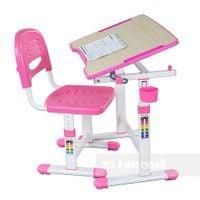 Biurko i krzesełko dziecięce PICCOLINO II PINK