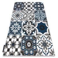 Dywan ALTER Porto Kwiaty niebieski 240x330 cm niebieski