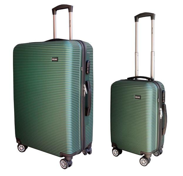ZESTAW WALIZEK podróżnych walizka walizki XL + M ZIELONE zdjęcie 1