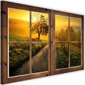 Obraz na płótnie - Canvas, okno - droga ku zachodowi 60x40 zdjęcie 1
