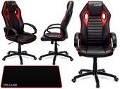 Fotel obrotowy gamingowy KUBEŁKOWY dla gracza FLAME PRO-GAMER czerwony