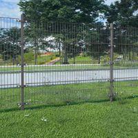 VidaXL Panel ogrodzeniowy ze słupkami, żelazny, 6 x 2 m, antracytowy