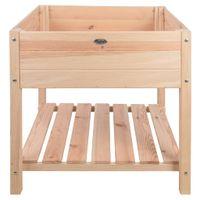 Esschert Design Podwyższona donica, jasne, naturalne drewno, XL