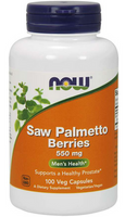 NOW Foods Saw Palmetto Berries 550mg 100 vege kapsułek