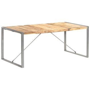 Stół jadalniany, 180 x 90 x 75 cm, lite, surowe drewno mango