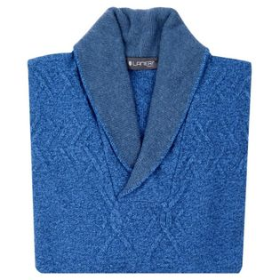 Niebieski kardigan SW12 Rozmiar swetra - 2XL