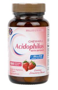 Acidophilus Truskawka do żucia - 100 tablets Holland & Barrett