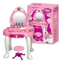 Bajkowa elegancka toaletka dla dziewczynki z suszarką i taboretem Y228