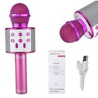 Mikrofon bezprzewodowy Bluetooth Głośnik  Karaoke RÓŻOWY G242P