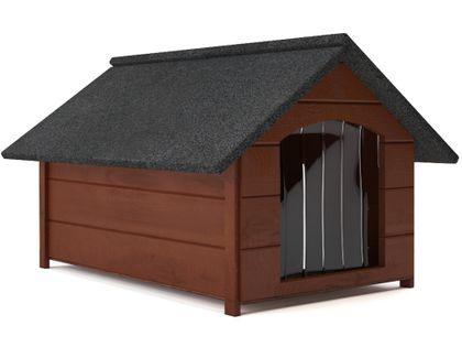 Różne kolory drewniana ocieplana buda dla psa L solidna + kurtyna