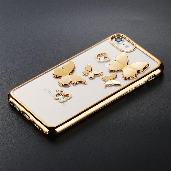 Case Etui Obudowa Iphone 7 8 Motyle 3D zdjęcie 3