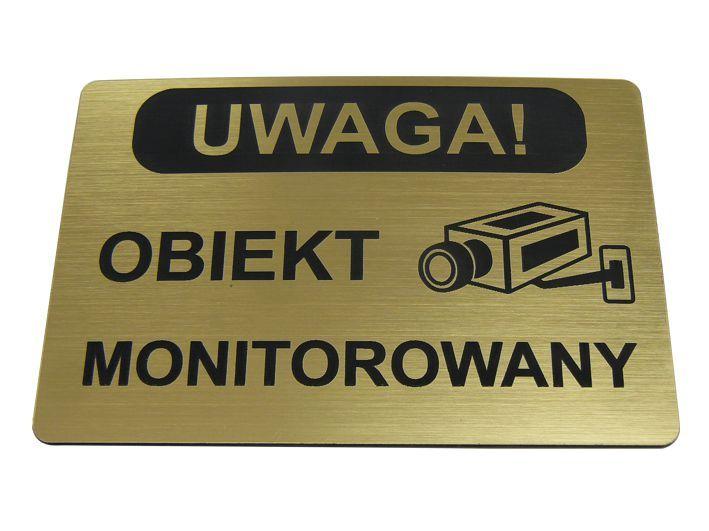 TABLICZKA informacyjna OBIEKT MONITOROWANY 10x15cm zdjęcie 1