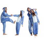 Kigu Piżama Jenoczęściowa Stitch Blue Sticz Kostium Przebranie XL