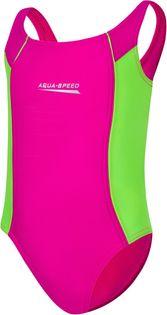 Kostium pływacki LUNA roz. 104-128 cm Rozmiar - Stroje dziecięce - 110, Kolor - Luna - 83 - różowy / zielony