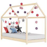 Rama łóżka dziecięcego, lite drewno sosnowe, 70 x 140 cm