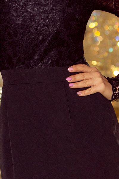 0f7542b0a4 216 2 EMMA elegancka ołówkowa sukienka z koronką CZARNA Rozmiar - XL  zdjęcie 6