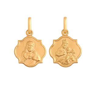 medalik szkaplerz subtelny złoto 585