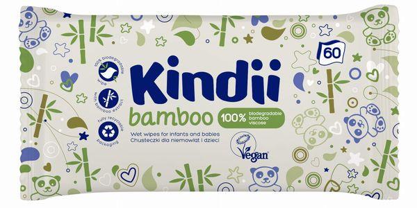CLEANIC Kindii Bamboo 60szt - chusteczki pielegnacyjne dla niemowlat