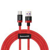 Baseus Purple Gold Red kabel przewód w nylonowym oplocie USB / USB-C SuperCharge 40W Quick Charge 3.0 QC 3.0 2M czerwony (CATZH-B09)