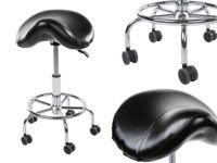 Krzesło siodłowe - czarne Physa Adonis Black