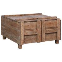 Stolik kawowy, 65 x 65 x 38 cm, lite drewno z odzysku