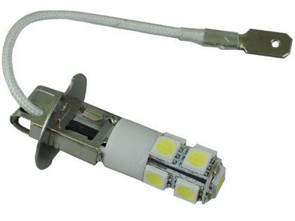 żarówka LED H3 9 SMD biała zimna 12v 24v wysoka jakość dzienne DRL TIR