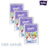 Pieluszki Bella Happy 1 Newborn Pieluchy 4 x 42