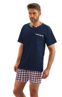 Bawełniana piżama męska JASIEK z krótkim rękawem Sesto Senso XXL