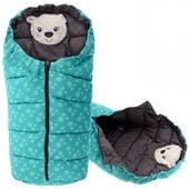 Śpiworek do wózka 4w1 BEAR MINT-GREY