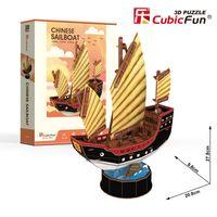 Puzzle 3D Żaglowiec Chinese 62 elementy