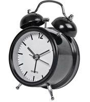 Budzik klasyczny OLD GONG dzwonek dekoracyjny black swe