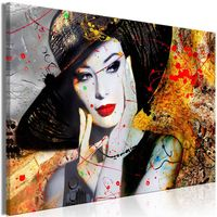 Obraz - Elegancka dama (1-częściowy) szeroki