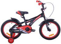 Rower dziecięcy 16 Fuzlu Eco czarno-czerwony