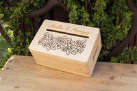 Pudełko na koperty - małe, drewniane, grawer, ślub