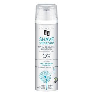 Shave Safe&Care nawilżająca pianka do golenia Aloes & Gliceryna 250ml