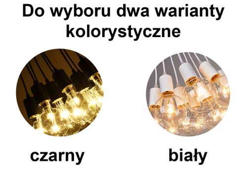 Lampa LOFT PAJĄK EDISON żyrandol NORDIC 3 ramiona na Arena.pl