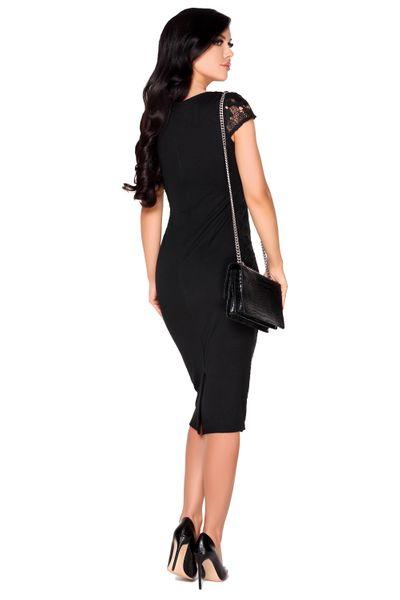 Obcisła elegancka Sukienka koronkowa Midi na imprezę szykowna XL zdjęcie 4