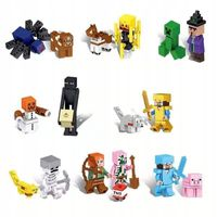 MEGA figurki stwory 16szt +karta lego i minecraft