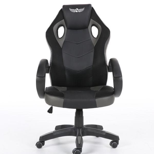 Obrotowy fotel gamingowy NORDHOLD - ULLR gracz - szary/gray zdjęcie 2