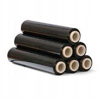 Folia czarna, stretch do pakowania paczek, folia 3 kg na rurce, strecz