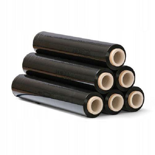 Folia czarna, stretch do pakowania paczek, folia 3 kg na rurce, strecz na Arena.pl