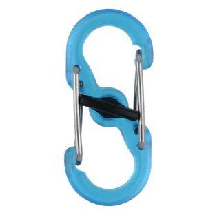 Nite Ize Karabińczyk S-Biner MicroLock transparentny niebieski 2 sztuki